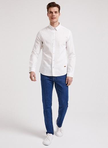 Lee Cooper Lee Cooper 241012 Elian Açık Beyaz Erkek Gömlek Beyaz